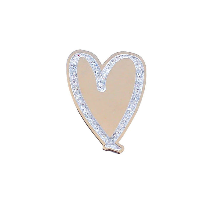 love heart enamel pin
