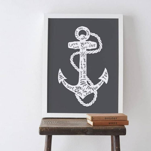 Anchor typography print