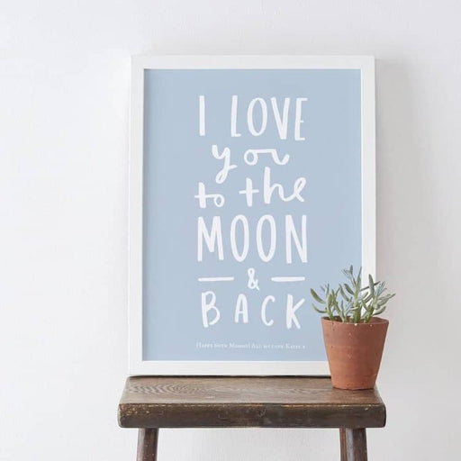 lobe you to the moon and back gift print