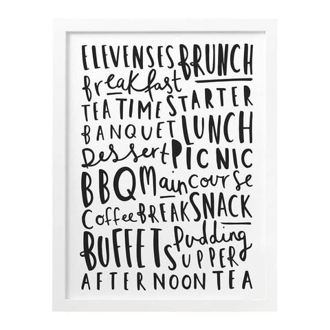 Meal Names Kitchen Print