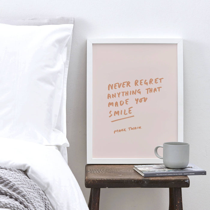 Mark Twain Never Regret Anything Quote Art Print