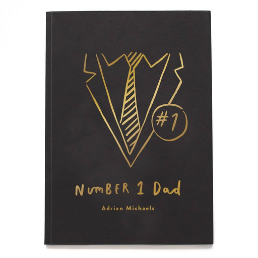Number One Dad Personalised Foil Notebook