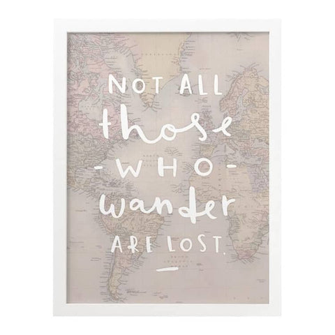 Not All Those That Wander Map Print