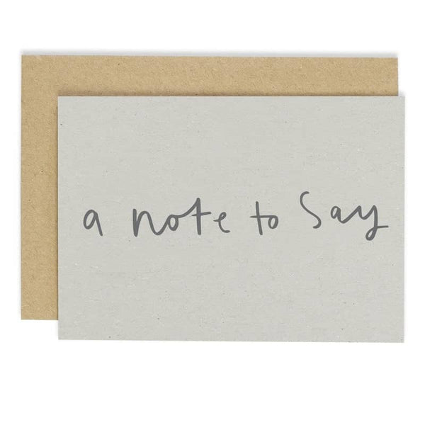 A Note To Say Notecard Set