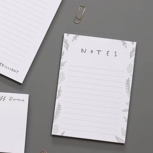 notes floral notepad