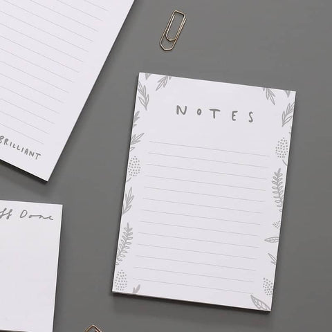 Notes Floral A6 Notepad