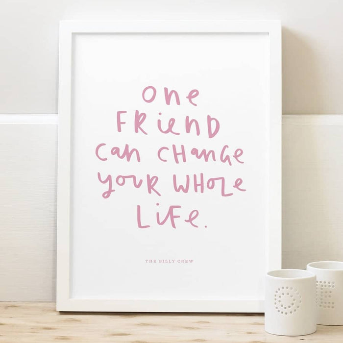 best friend typography print