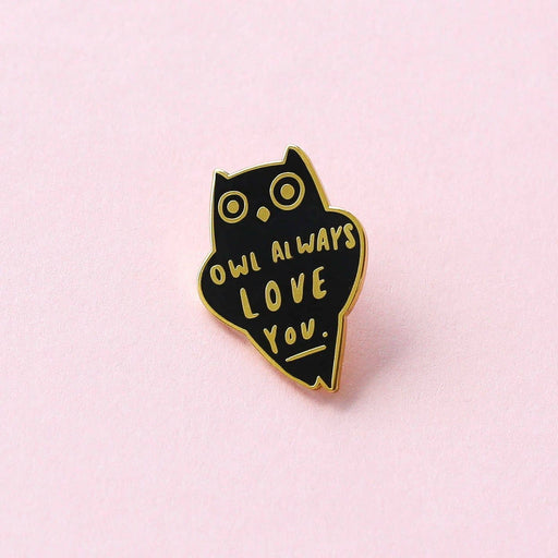 Owl Love Quote Enamel Pin