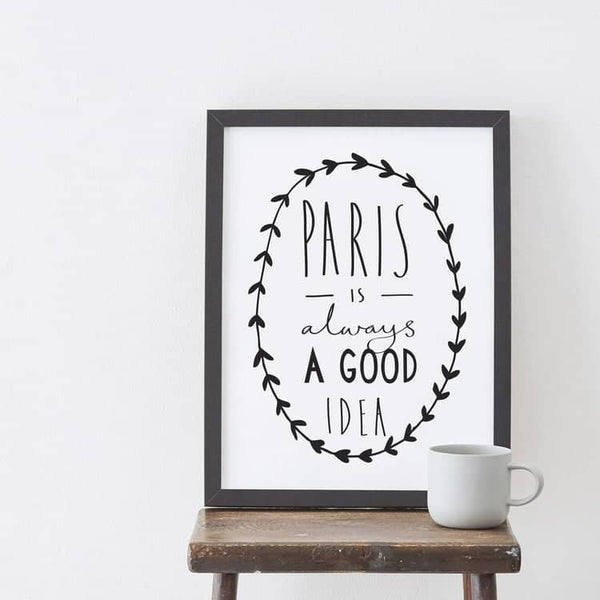 paris wall print