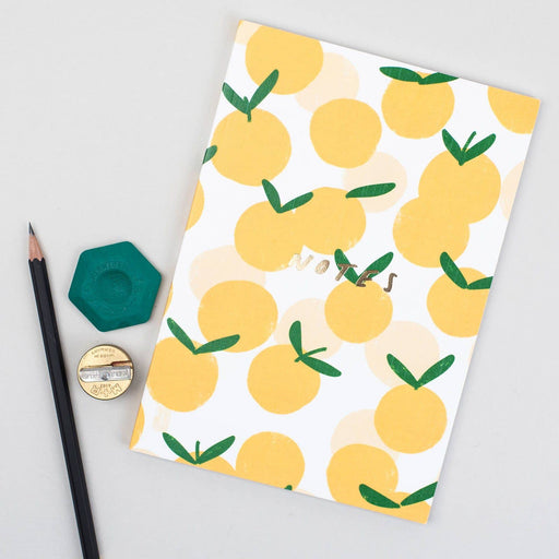 Fruit Peach Linen Notebook