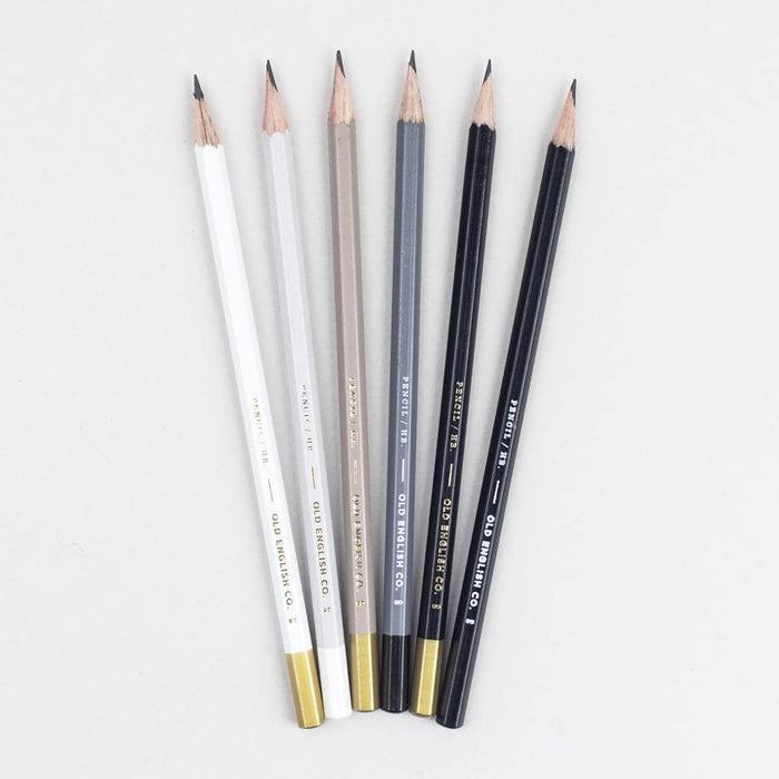 Pencil Set - Charcoal and White
