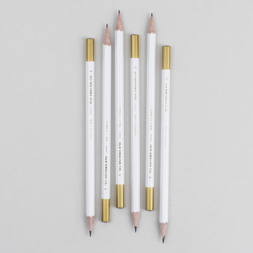 Gold and White Pencils
