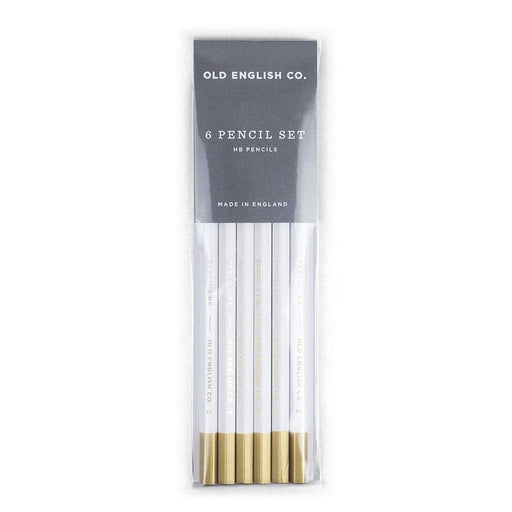 White and Gold HB Pencils