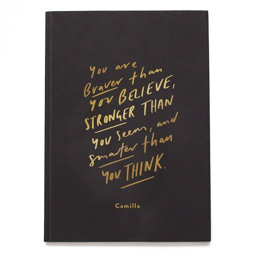 Braver Than You Think Personalised Notebook