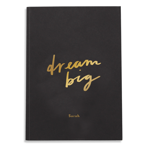 dream big personalised notebook