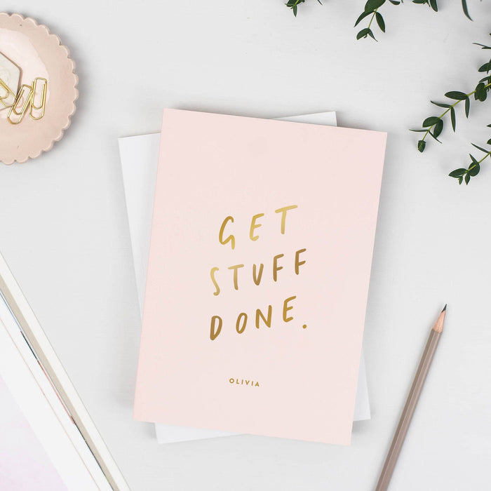 Get Stuff Done Personalised Foil Notebook