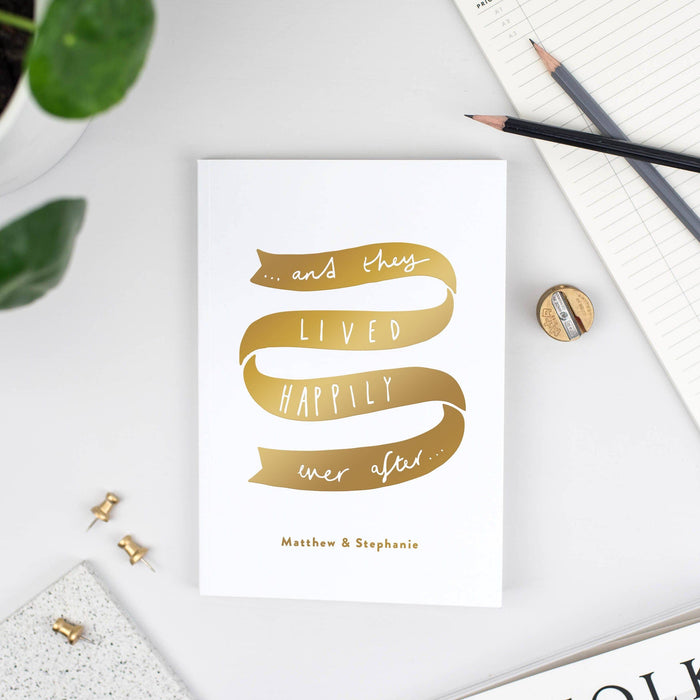 Happily Ever After Personalised Wedding Notebook