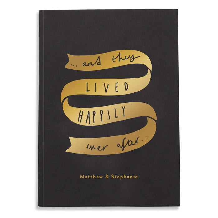 wedding personalised notebook