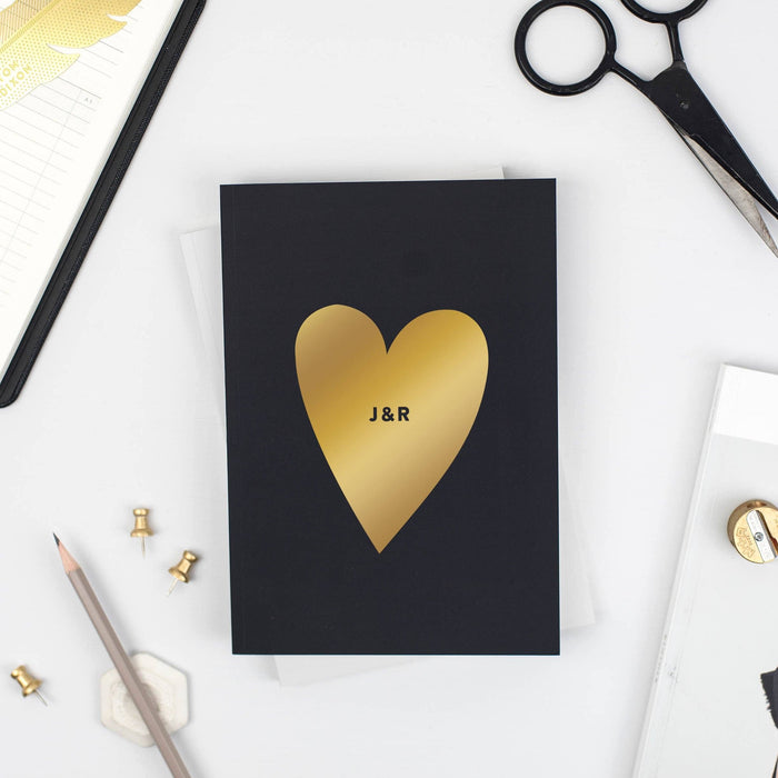 Personalised Heart Notebook