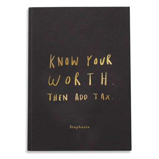 know your worth foil notebook