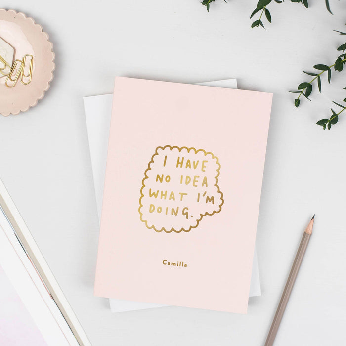 No Idea Personalised Foil Notebook