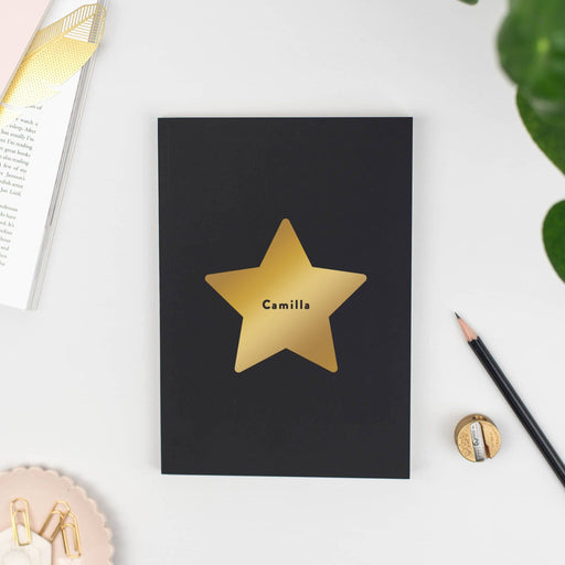Star Personalised Notebook