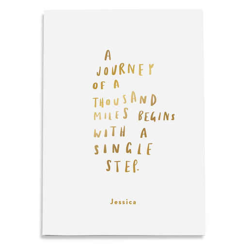 Journey Of A Thousand Miles Personalised Notebook