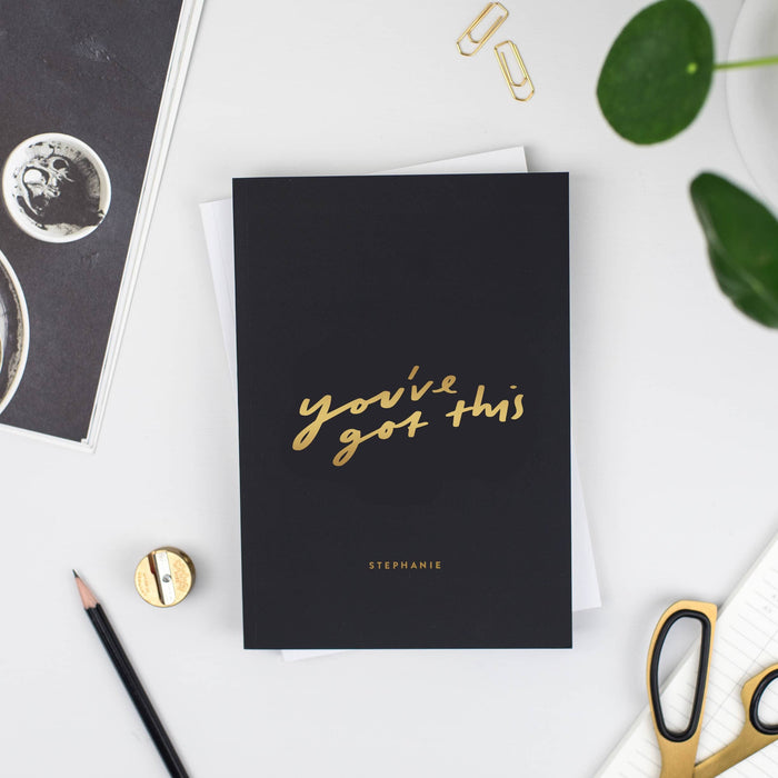 You've Got This Personalised Foil Notebook