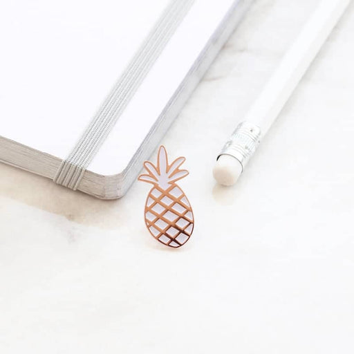 pineapple rose gold enamel pin