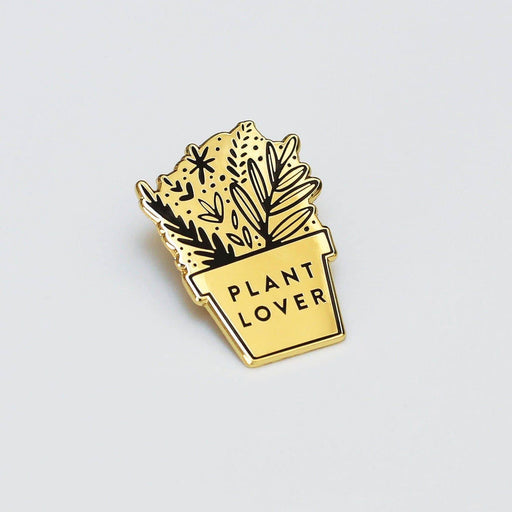 plant lover enamel pin badge