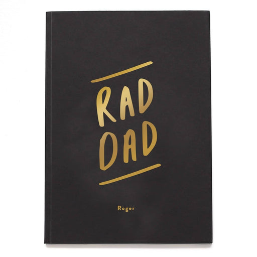 Rad Dad Personalised Foil Notebook