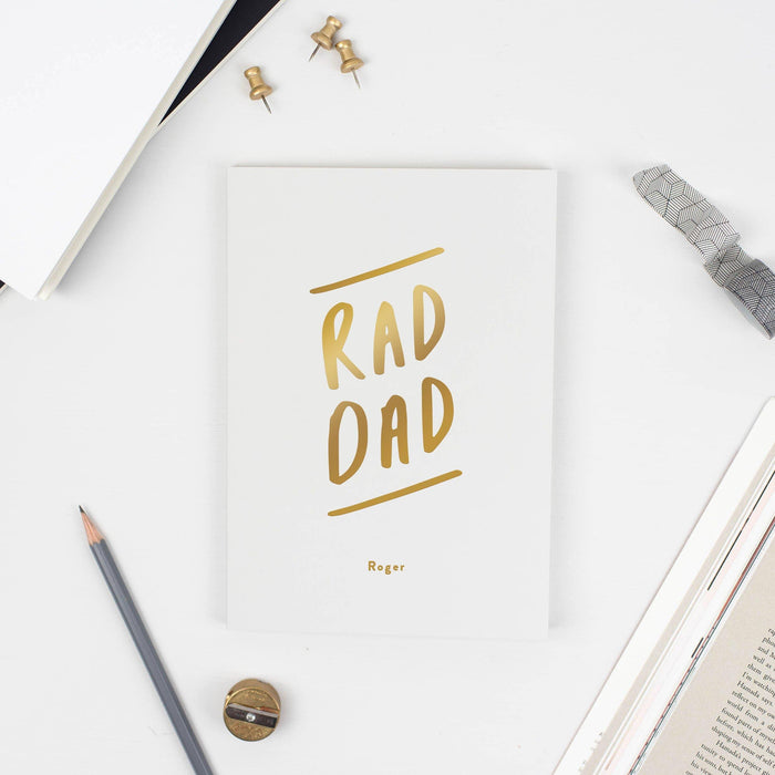Rad Dad Personalised Notebook