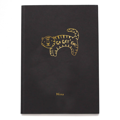 Go Get 'Em Tiger Personalised Notebook