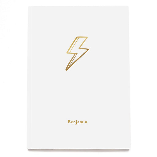 Lightning Bolt Personalised Notebook