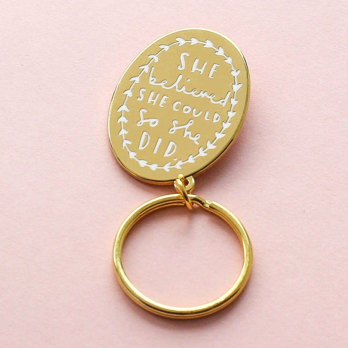 Hand Lettered Quote Keyring