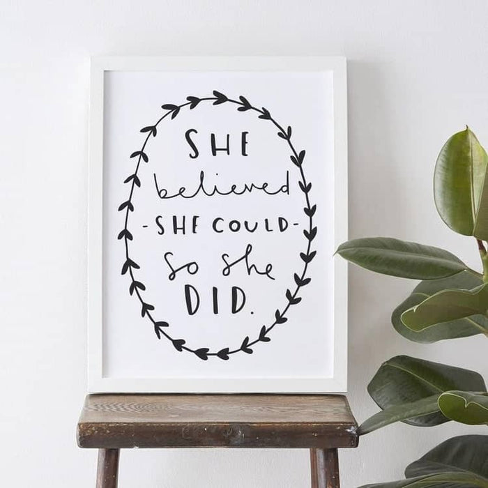 motivational typography print