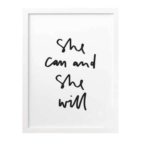 She Can and She Will Print
