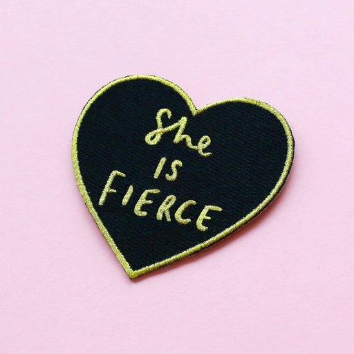 She is fierce heart patch
