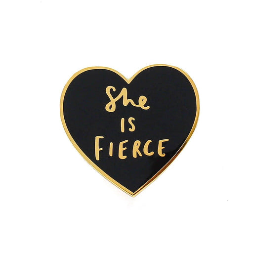 She is Fierce Heart Enamel Pin