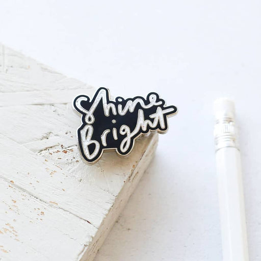 Enamel Pins - Hand Lettered Typography Pins - Pin Badges