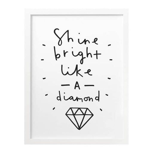 Shine Bright Like A Diamond print