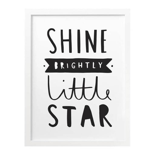 Shine Brightly Little Star print