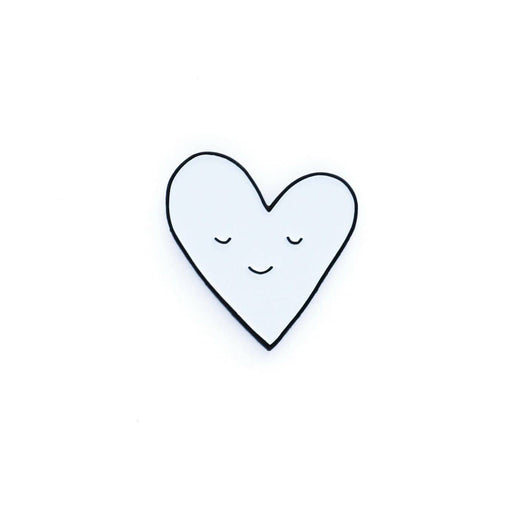 Smiling Heart Enamel Pin