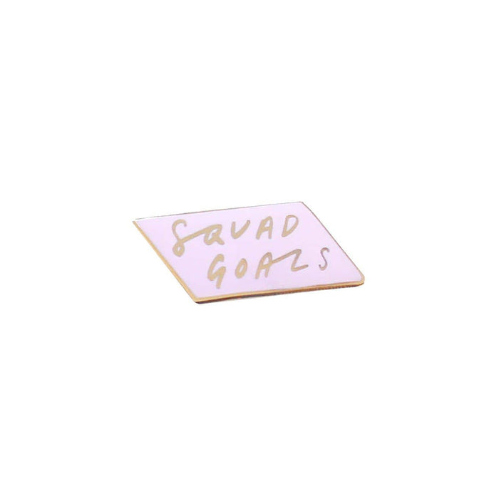 squad goals enamel pin