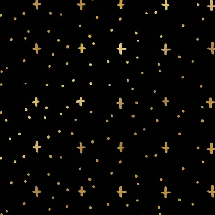 metallic stars wrapping paper