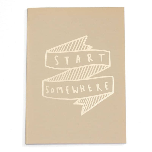 start somewhere gold foil a4 notebook