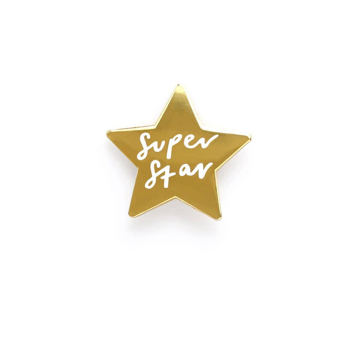 Super star enamel pin