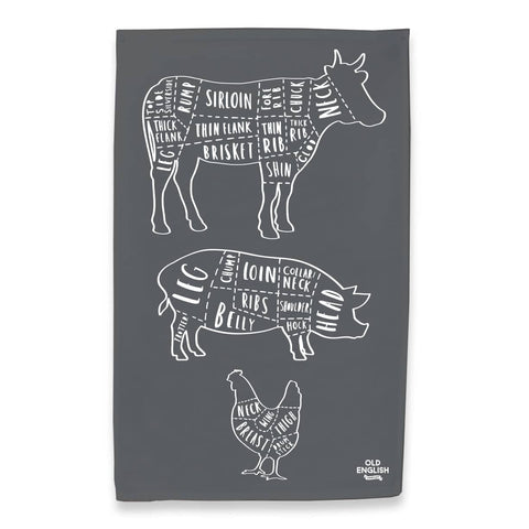 Butcher Tea Towel - Charcoal