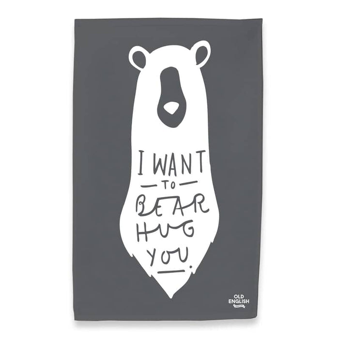 bear hug tea towel