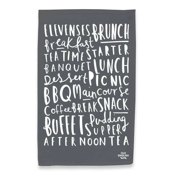 meal names tea towel